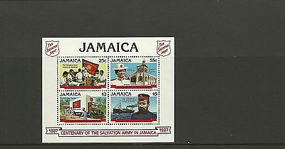 Jamaica Sgms702-Centenary Of Salvation Army In Jamaica Minisheet  Mnh