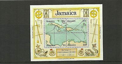 Jamaica Sgms778-500Th Anniv Of Discovery Of America By Columbus 2Nd Series Mnh