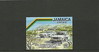 Jamaica Sgms893-50Th Anniversary Of United Nations Minisheet Mnh
