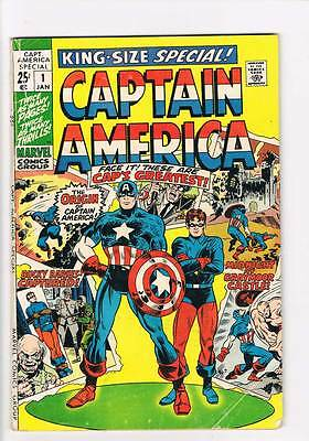 Captain America Annual # 1  Origin reprinted  grade 3.0 scarce hot book !!