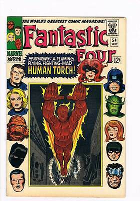 Fantastic Four # 54  A Flaming Mad Human Torch grade 8.5 scarce book !!