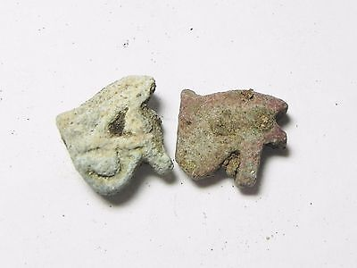 Zurqieh -Tat109- Ancient Egypt, Lot Of Faience Eye Of Horus Amul . 600 - 300 B.c