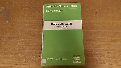 Hexham + Haltwhistle: Ordnance Survey Landranger Map 1:50000 Sheet #87 (M4)