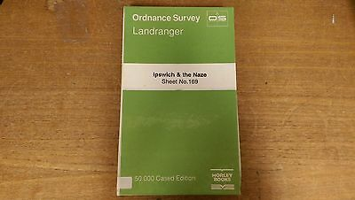 Ipswich + The Naze: Ordnance Survey Landranger Map 1:50000 Sheet #169 (M4)
