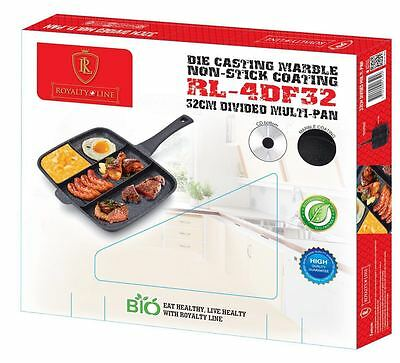 Die Casting Marble Non Stick Multi-Section 4 in 1 Master Frying & Grill Pan