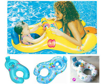 New Inflatable Mother Baby Soft Swim Float Raft Kid's Chair Seat Swim Ring Pool