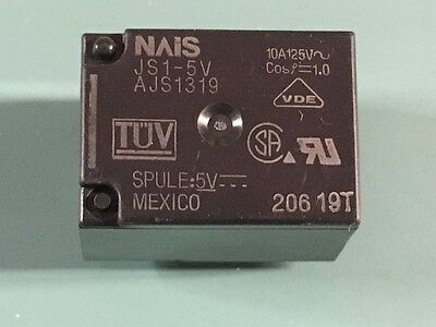 Lot Of (100) New Nais Js1-5V Ultra-Miniature Pc Board Type Power Relay