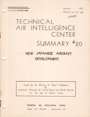 1945 Technical Air Intelligence Summary #20-New Japanese Aircraft Development-Cd