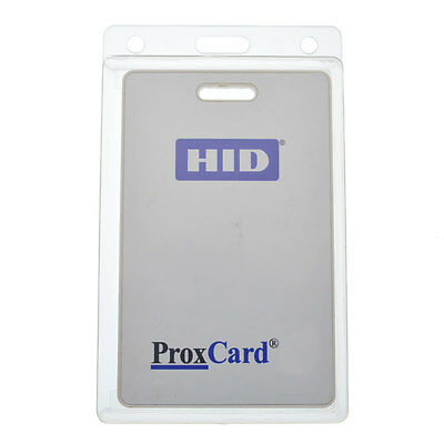 Vertical Rigid Badge Holder for Thick HID Clamshell Cards - 70 Mil Prox Card II