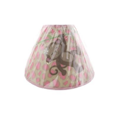 "Babies""R""Us 5152 Pink Monkey/Giraffe Baby Girl Custom Nursery Lamp Shade BHFO"
