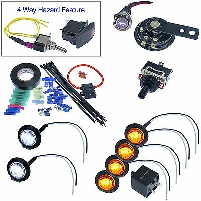 Universal LED Turn Signal Kit Street Legal ATV UTV Jeep rock crawler dune buggy