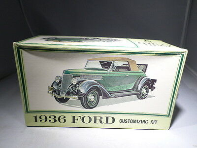 AMT 1/25th BOXED VINTAGE 1936 Ford Customizing Kit Model