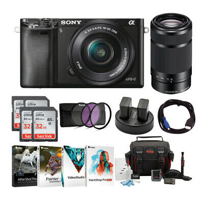 Sony Alpha a6000 Mirrorless Camera with 16-50mm & 55-210mm Lenses & Accessories