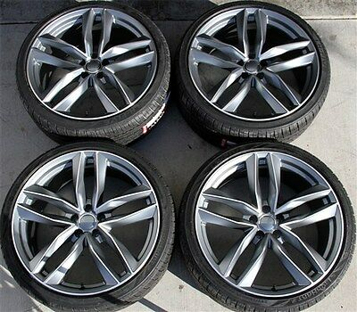 "Set(4) 20"" 20X9 5X112 New Wheels & Tires Pkg Audi Rs6 Rs4 A8 A7 A6 A4 S4 A5 Q5"