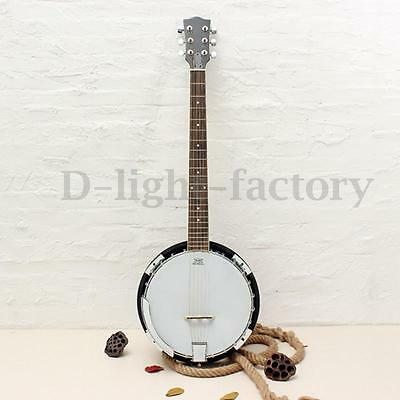 6-string Banjo Exquisite Professional Sapelli Notopleura Wood Alloy NEW