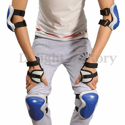 6Pcs Adult Teen Cycling Skating Sport Knee Elbow Wrist Pad Protective Guard Set