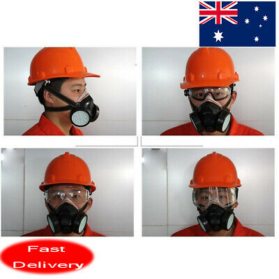AU Industrial Respirator Gas Anti-Dust Chemical Paint Spray Mask With Goggles