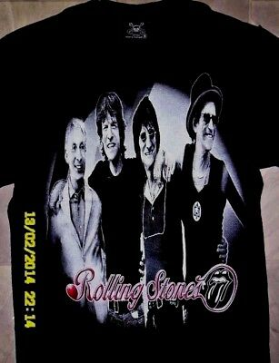 The Rolling Stones - Rock Band Round Neck T-Shirts 100% Cotton