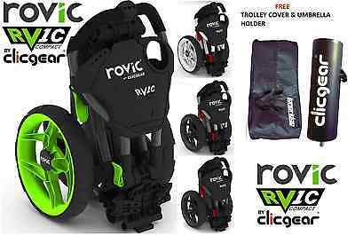 ClicGear Rovic RV1C Compact Golf PushPull Trolley 5 Colours & Fast Delivery