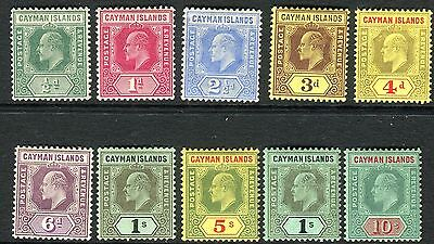CAYMAN ISLANDS-1907-9 A lightly mounted mint set to 10/- Sg 25-34