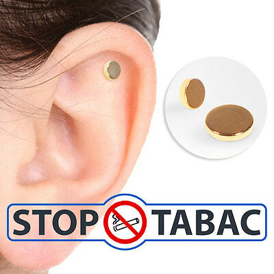 Aimant Auriculaires Anti-Tabac Arrêter Fumer Quit Smoke Magnet Thérapie Neuf