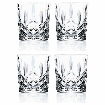 Crystal Tumblers Water Glasses, 340ml (11.5oz) - Set of 4 RCR Orchestra Glasses