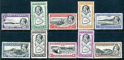 ASCENSION-1934  A mounted mint set to 5/- Sg 21-30