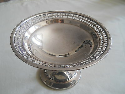 STERLING Silver Pedestal Pierced Comport Candy Dish