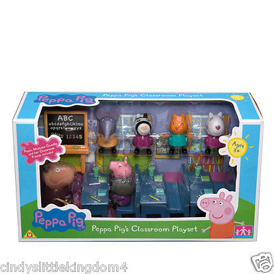 Peppa Pig's Classroom Playset with figures with damaged box