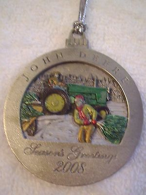 John Deere  Ornaments 2008 Collectors Tractor Christmas Pewter