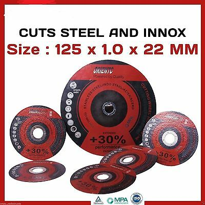 "20 X 125Mm 5"" Cutting Discs Wheels Angle Grinder Cut Off Metal Steel Thin Flap"