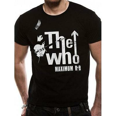 The Who - Maximum R and B Short Sleeve Black Cotton T-Shirt - New & Official