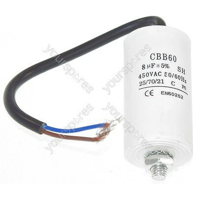 Ufixt Universal 8UF Capacitor with 19cm Cable Connectors
