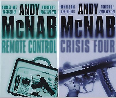 Andy McNab Remote Control and Crisis Four 2 Book Set (Paperback) New