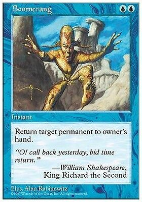 4x Boomerang MTG MAGIC 5E Eng