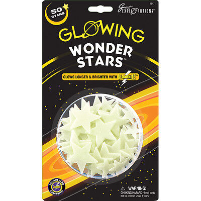 Great Explorations Glowing Wonder Stars (50 Stars) Ceiling/Wall Stickers