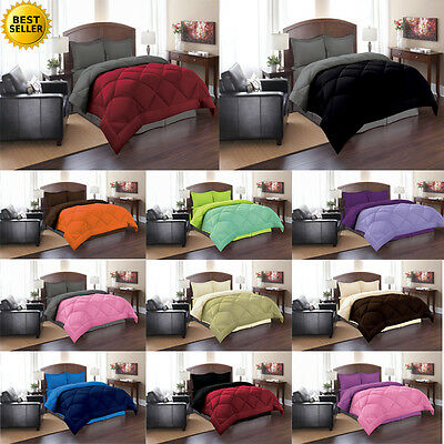 Goose Down Alternative Double Filled Luxury Comforters- Fade Resistant
