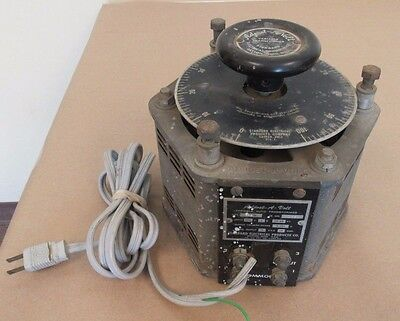 Adust-A-Volt Variable Transformer Standard Electrical Products Co. 1500B  1500