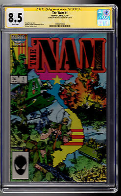 Marvel! The 'Nam #1! CGC 8.5 Signature Series! Signed by Michael Golden!