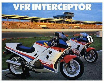 1986 Honda Interceptor VFR 750 Motorcycle Factory Photo ca5518