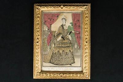 NobleSpirit {3970} Amazing Exquisite French Fashion 1600's Silk & Lace Picture
