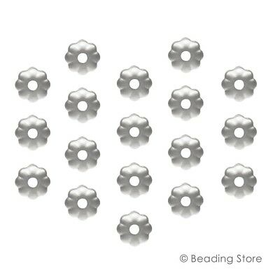 Various 925 Sterling Silver 3.2mm Round Flower Light Weight Bead Caps Findings