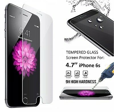 "Lot 9H+ Premium Real Tempered Glass Film Screen Protector Apple 4.7"" iPhone 6s"
