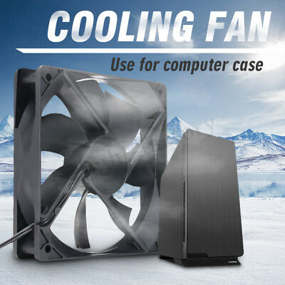 Black USB Cooling Fan Silent Fan For Computer Case PC CPU Case 12V 120x120x25mm