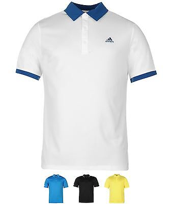 SALDI adidas Tipped Golf Polo Uomo White