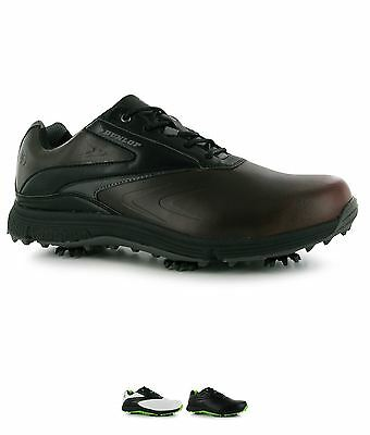 SALDI Dunlop Waterproof Leather Biomimetic 300 Mens Golf Shoes White