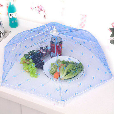 Lace Food Cover Umbrella Style Anti Fly Meal Hexagon Gauze For Table Cooking