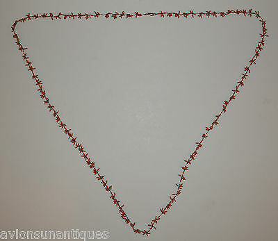 Chinese Salmon Red / Pink Coral Bead Necklace 120 cm long
