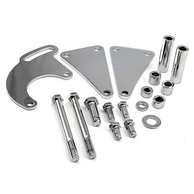 Chevy BBC 454 Long Water Pump Lwp Power Steering Bracket Kit Polished