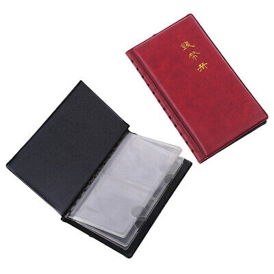 Portable 12 Coin Album Money Pockets Penny Holders Storage Stock Book Collecting